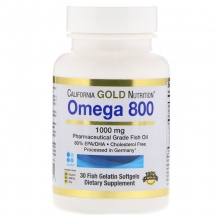 Антиоксидант California Gold Nutrition Omega 800 1000 мг 30 капсул